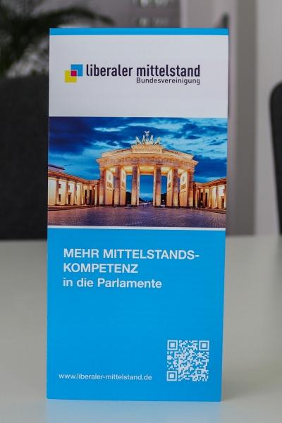 Faltblatt inkl. Aufnahmeantrag Liberaler Mittelstand e.V.