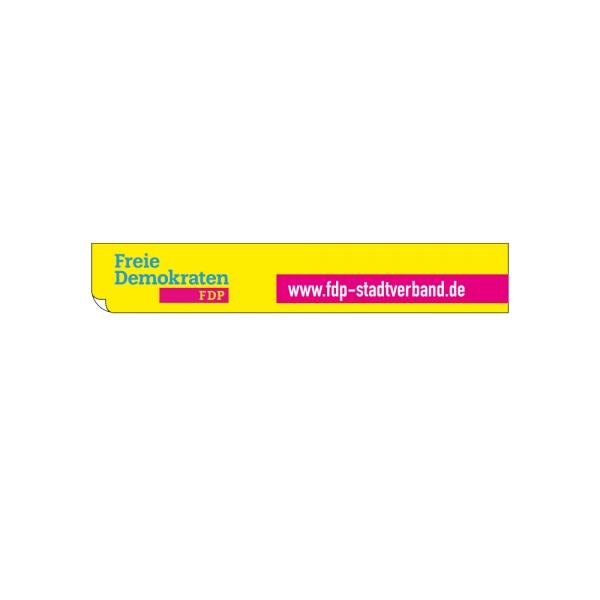 Webseitenaufkleber (3,5 x 21 cm) mit eigener Adresse