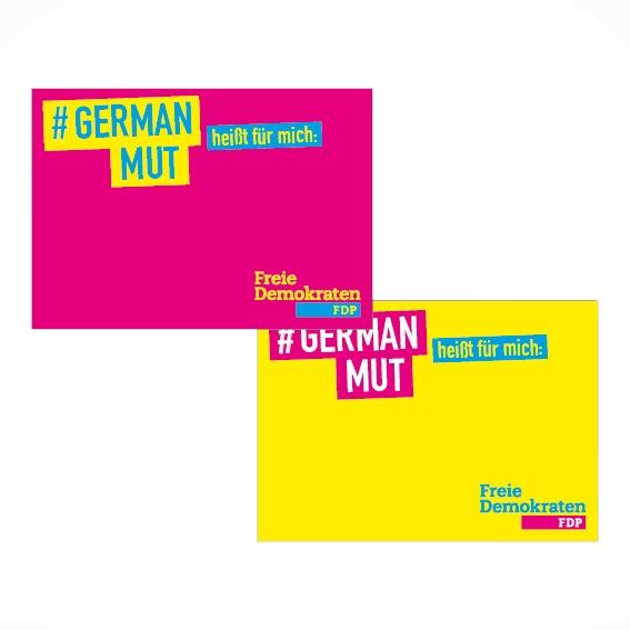 """""""#GERMANMUT heißt für mich"""" Plakate"""