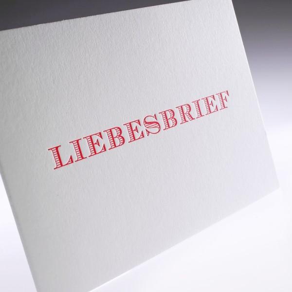 """Letterpress Klappkarte """"Liebesbrief"""""""