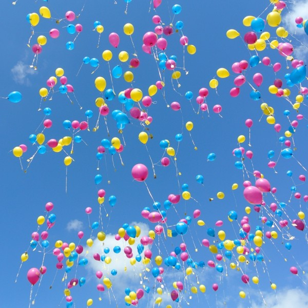 Luftballons mit Wunschaufdruck