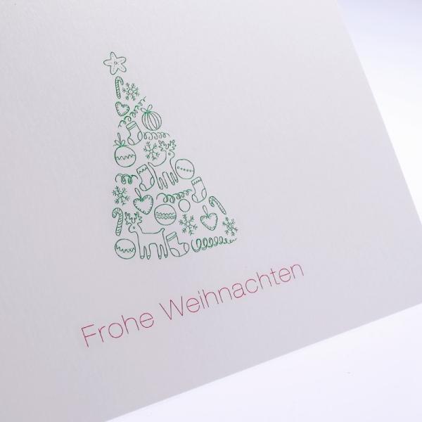 """Letterpress Klappkarte """"Frohe Weihnachten"""""""
