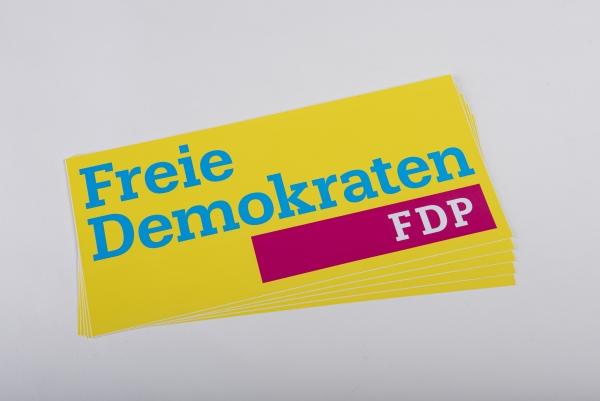 Aufkleber Logo Freie Demokraten 30 x 14 cm