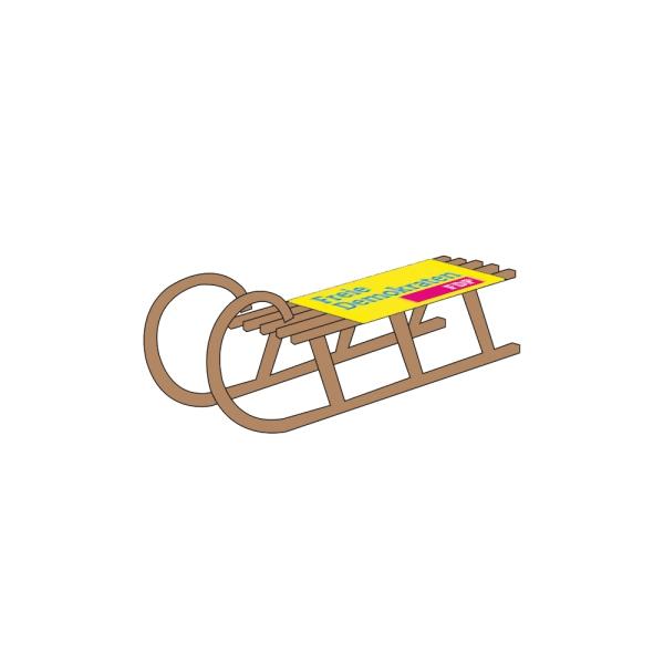 Hörnerschlitten inkl. bedruckter Sitzfläche