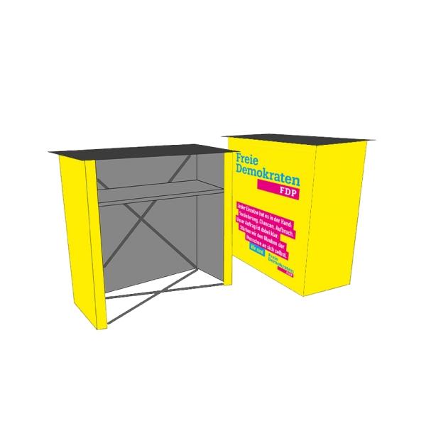 Mobile Wahlkampftheke / Counter