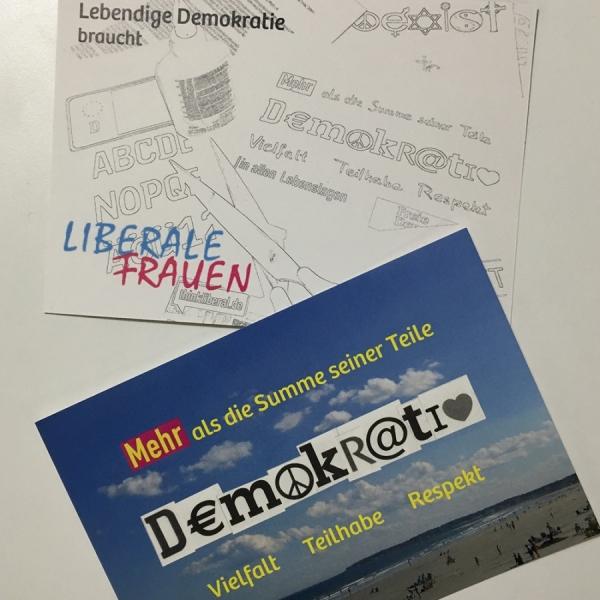 Postkarte Demokratie