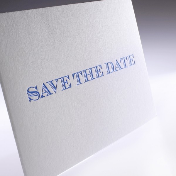 "Letterpress Klappkarte ""Save the date"""