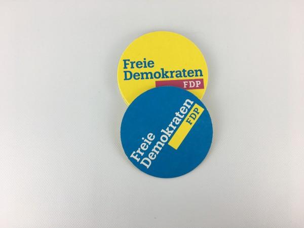 Bierdeckel mit FDP Logo