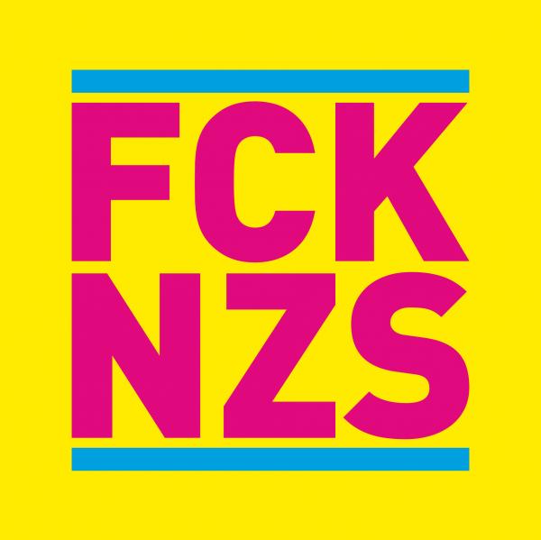 Fuck Nazis / FCK NZS Aufkleber
