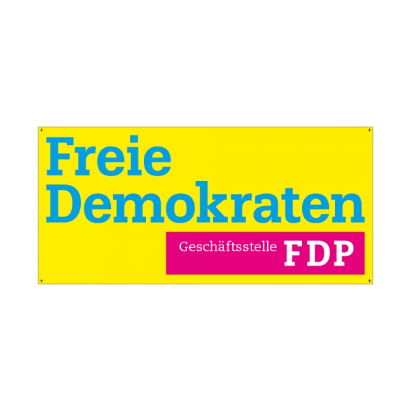 "Alu-Dibond ""FDP Geschäftsstelle"" Schild"