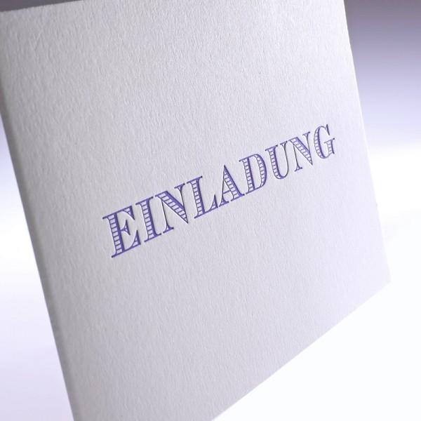 """Letterpress Klappkarte """"Einladung"""""""