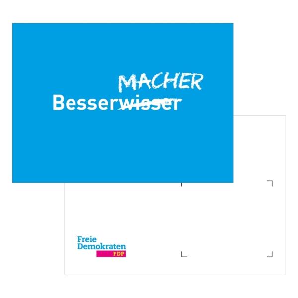Postkarte Bessermacher