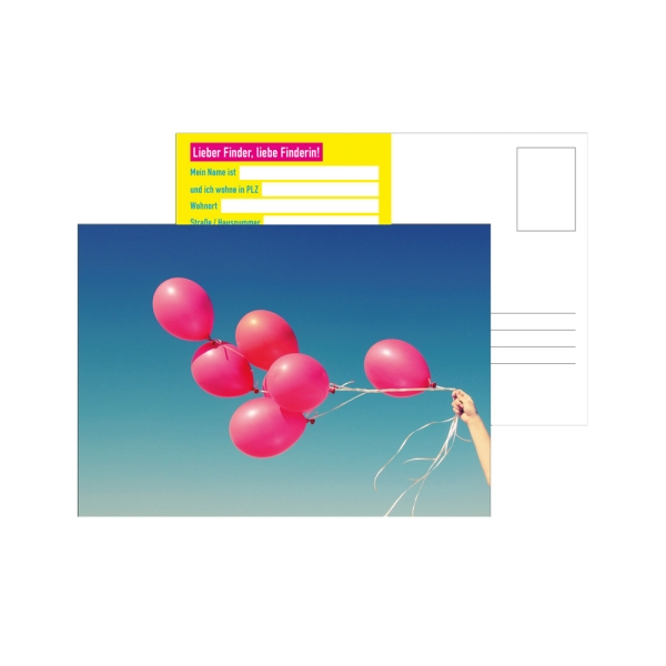 Luftballonwettbewerb-Karten