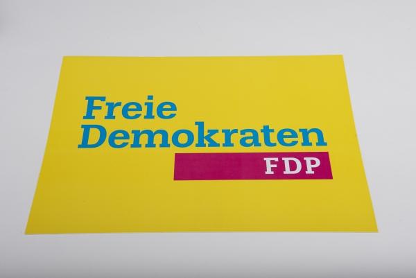 Aufkleber Freie Demokraten DIN A3